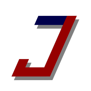 The Junction logo. A letter J in blue and red.